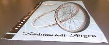 prospekt blatt alt rw ruhrwerk fahrrad leichtmetall felgen reklame werbung 1952