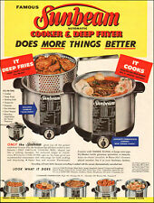 1954 vintage AD SUNBEAM Cooker & Deep Fryer All in One 120917