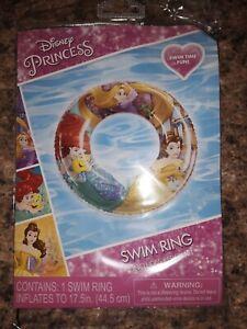 "Brand New Disney Princess Inflatable Swim Pool ring 17.5"""