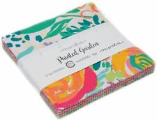 "Painted Garden Moda Charm Pack 42 100% Cotton 5"" Precut Fabric Quilt Squares"