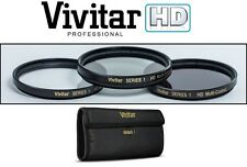 Hi Definition 62mm Polarizer (PL) UV & ND-8 (Neutral Density) Filter Set (3pc)