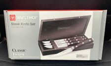 Wüsthof Classic Ikon 4-Piece Steak Knife Set BRAND NEW AND SEALED