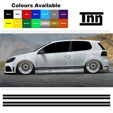 Side Stickers Vinyl For VW Polo Golf Lupo Line Stripes Scirocco GT GTI GTD R