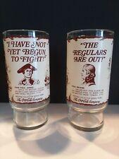 2 Patriots of The American Revolution Glasses - Coca-Cola 1976