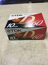 New Rare Vintage TDK D60 Audio Tape 10 Pack