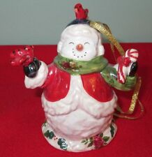 Snowman Royal Albert Old Country Roses Musical Christmas Ornament