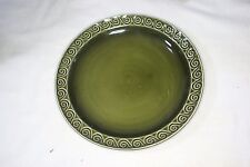 "Green Sylvac 8"" Breakfast Plate"