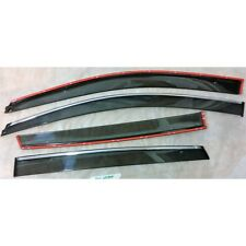 Wind Deflectors With Chrome Line VW POLO 9N/9N3 5-doors 2002-2009 4-pc Tinted