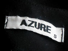 AZURE FeatureZip100%BlkCottonMicroMiniSzS
