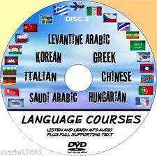 Listen Learn 7 Language Courses Korean Greek Italian Chinese Saudi Pcdvd3
