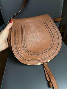 Authentic Chloe Tan Leather Medium Marcie Crossbody Bag