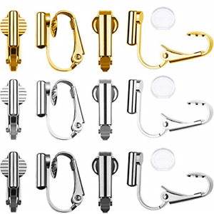 9 Pairs Clip-on Earrings Converter Components 3 Colors for Non-Pierced Ears