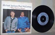 "The Beatles-Paul McCartney & Michael Jackson-45 RPM-7""-Epic-""The Girl is Mine""#2"