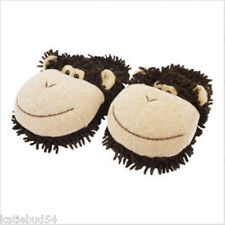 KIDS Fuzzy Friends ONE SIZE MONKEY Brown Slipper Clog up to sz 3 Aroma Home