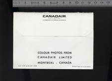 (192) Brochure aviation Aircraft CANADAIR colour photos