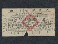 [COLLECTIONS] TICKET ANCIEN TRANSPORT LONDON SEVENOAKS Métro Southern Railway