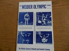 Joe Weider Olympic Barbell Training Course