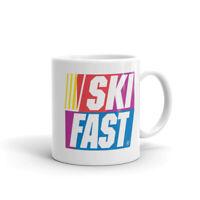 Ski Fast, Ski Mug, Retro Mug, Ski Racing Skier Skiing Coffee Mug