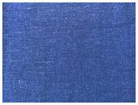 "Deep Royal Blue 100% Pennsic Linen Soft Drapery Apparel Fabric 53""W By The Yard"