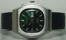 Vintage Ricoh Automatic Day Date Mens Stainless Steel Wrist Watch Old Used s422