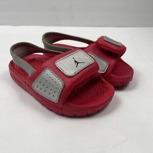 Nike Jordan Hydro 3BT Baby Toddler Sandals Red/Silver 630761-011 Size 7C