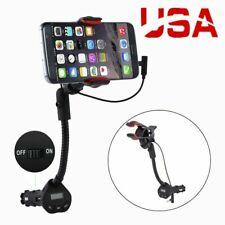 360° USB Car Cigarette Lighter Mobile Phone Charger Mount Holder Universal US