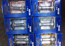 "BLUE & Silver NEW Old School MKS PEDALS BM-7 BMX 9/16"" Loose Ball JAPAN"