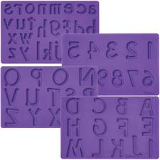 Wilton Fondant & Gum Paste Mold ~ Letters & Numbers - Silicone Mould - ALPHABET