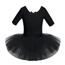 Kids Girls Ballet Leotard Tutu Dress Ballerina Dancewear Gymnastic Skirt Costume
