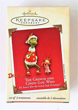 "2003 Hallmark Keepsake Ornament Dr. Suess ""The Grinch And Cindy Lou Who"""