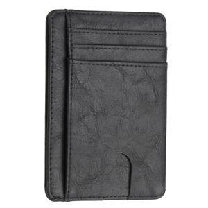 Mens RFID Blocking Leather Slim Wallet Money Clip Credit Card Holder