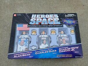 Heroes of Space NASA Figures Bean Duke Conrad sealed new 1999