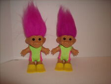 Swimming Troll Doll Lot of 2 - Bathing Suits and Flippers - Great Shape Russ