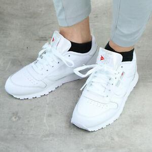 Reebok Classic Leather Schuhe Sneaker Damen Jungen Mädchen Leder 50151 Weiß