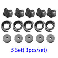 15pcs/kit 17mm Cobbler Shoes Repair Sewing Machine Metal Bobbins Spools Iron