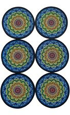 Lux Essentials Mosaic Silicone Coasters! 6 Non-Skid, Durable Absorbent Coasters