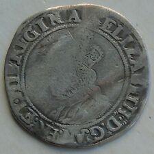More details for elizabeth i 2nd issue shilling hammered tudor coin, mm martlet 32mm 5.52g, s2555