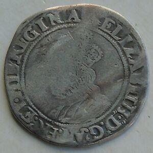 Elizabeth I 2nd Issue Shilling Hammered Tudor Coin, mm Martlet 32mm 5.52g, S2555