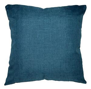 Qh04a Antique Blue Thick Cotton Blend Cushion Cover/Pillow Case Custom Size