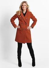 Bonprix Rust Double Breasted Coat UK Size 12 TD172 NN 12