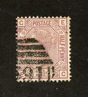 Great Britain stamp #67,used, plate 16, Queen Victoria, SCV $60