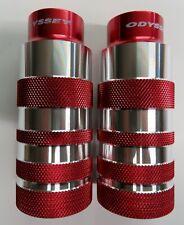 NOS Odyssey Bigfoot BMX Axle  Pegs Red 3/8 inch Threaded Old School