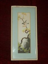 Original Victorian painting Japan Aesthetic Red Bird II c 1880 Signed