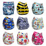 Washable Baby Pocket Nappy Cloth Reusable Diaper Adjustable Pocket Cover 0-2yrs