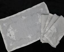 Antique Linen Madeira Leron ? Linen Placemat Set of 5 Light Gray / White