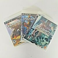 Uncharted 1, 2, And 3 For PS3 (Playstation 3) Lot Nathan Drake Collection CIB
