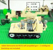 WWII italian Semovente da 90/53 self-propelled gun World War 2 (II) WW2 tank MOC