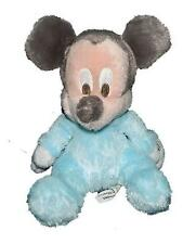 Disney Parks Blue Plush Baby Mickey Mouse Chimes Rattle Toy Stuffed Animal Lovey