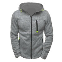 New Mens Hoodie Fleece Zip Up Jacket Coats Sweatshirt Hooded Jumper Tops Outwear