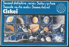 Ciskei 1991 Presentation Folder & Stamps 2nd Def. Series :  Solar System Superb